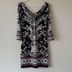 White House Black Market Patterned Dress